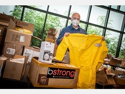 Stony Brook Hospitals Receive PPE Through BStrong