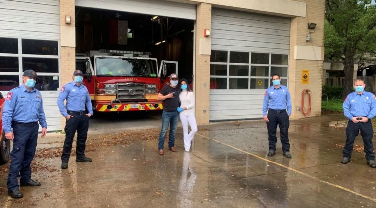 Matthew and Camila McConaughey donate masks to Austin first responders