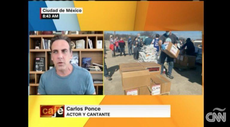 Actor Carlos Ponce ayuda a damnificados en Texas por tormenta invernal