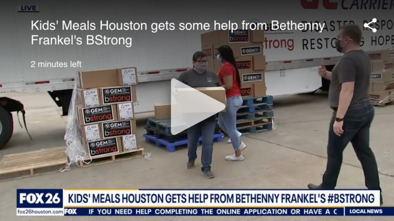 Kids' Meals Houston gets some help from Bethenny Frankel's BStrong